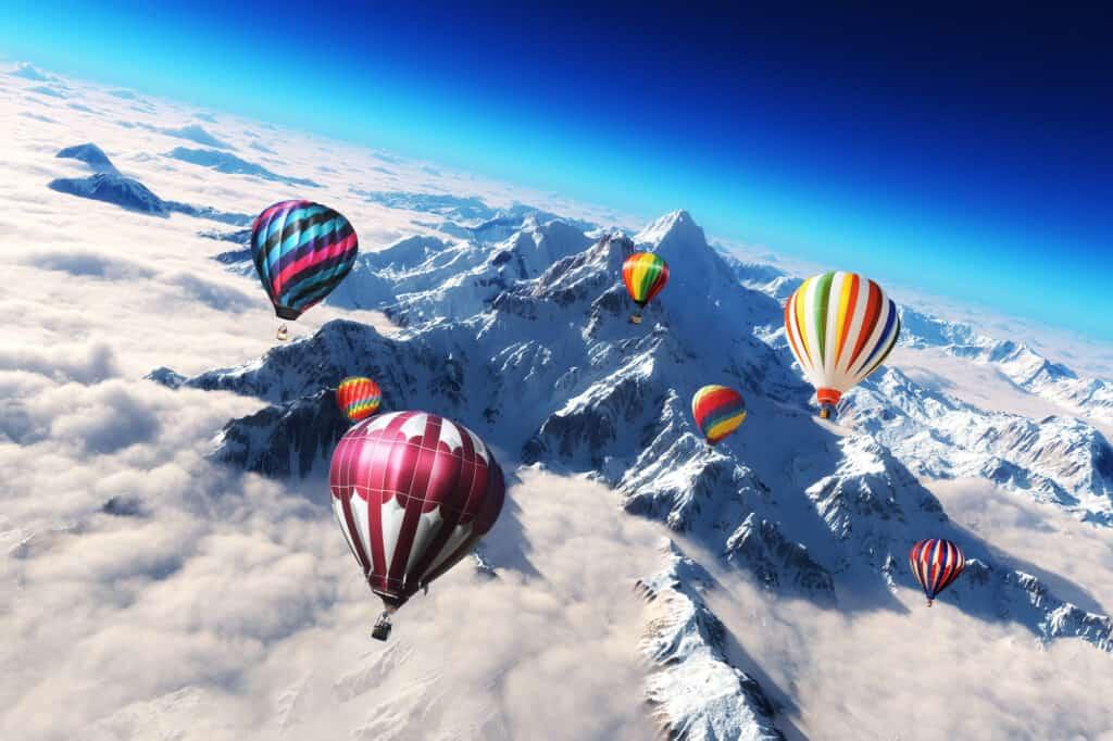cold hot air balloon