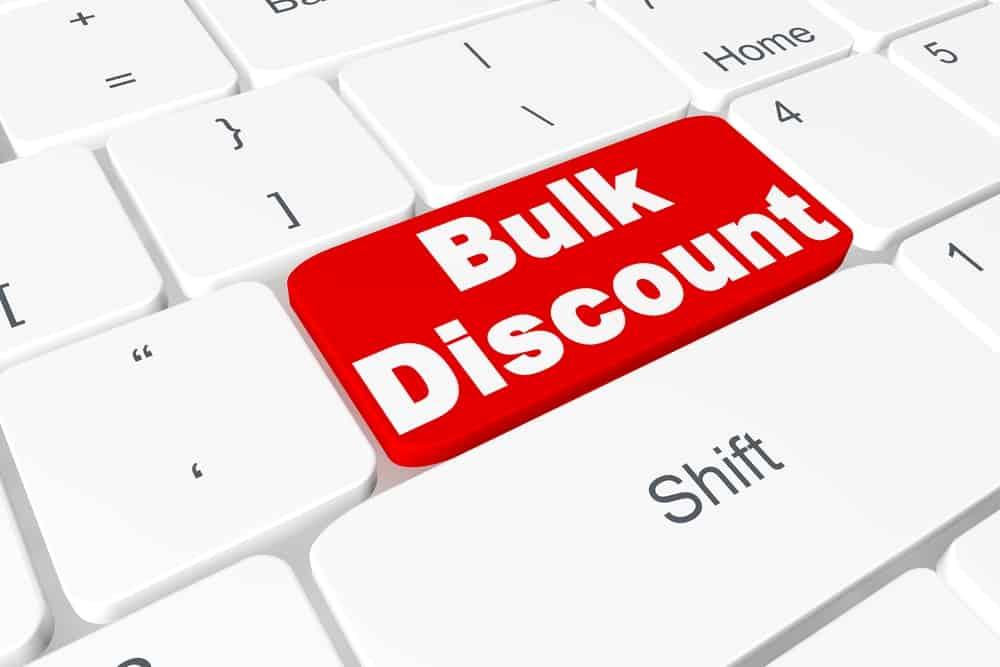 Button Bulk discount