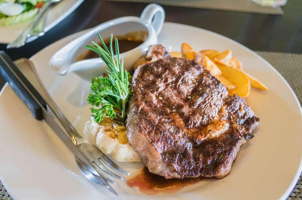 Filet mignon Steak Lunch time