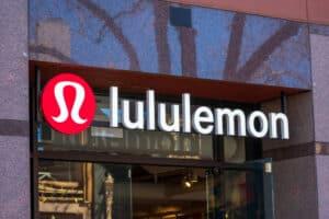 Lululemon sign at the entrance
