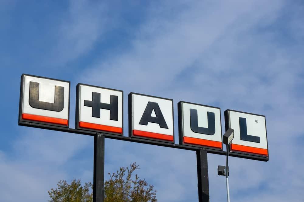 U-Haul sign and logo