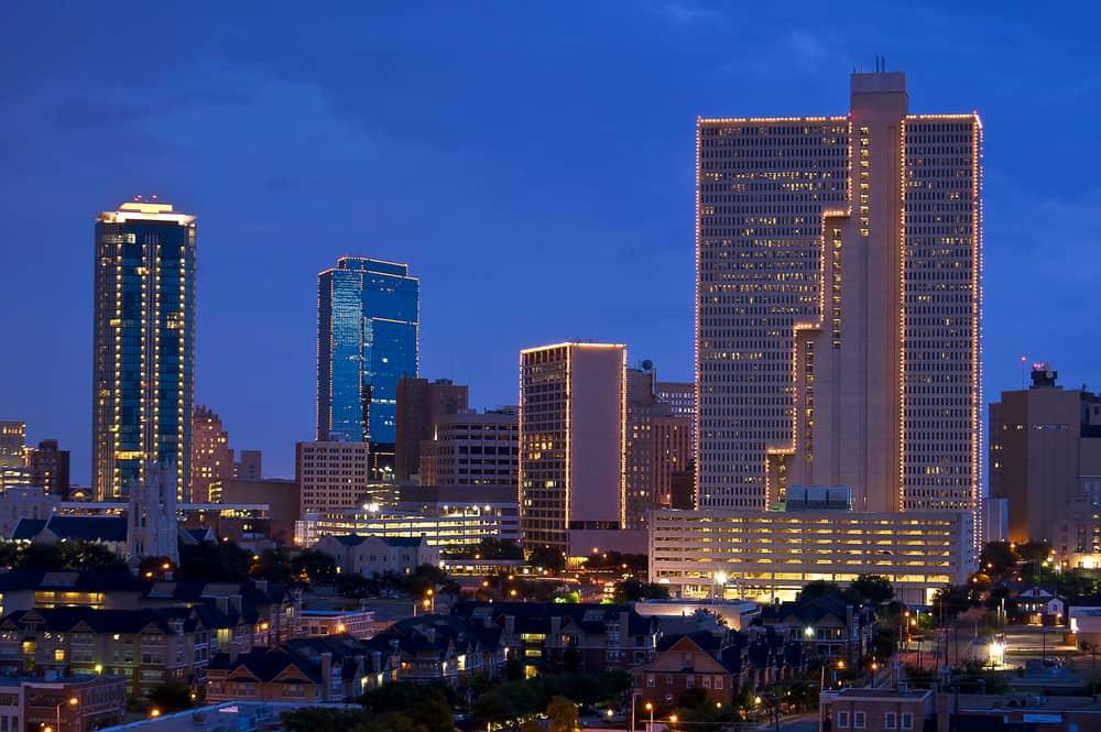 Fort Worth Texas at Night