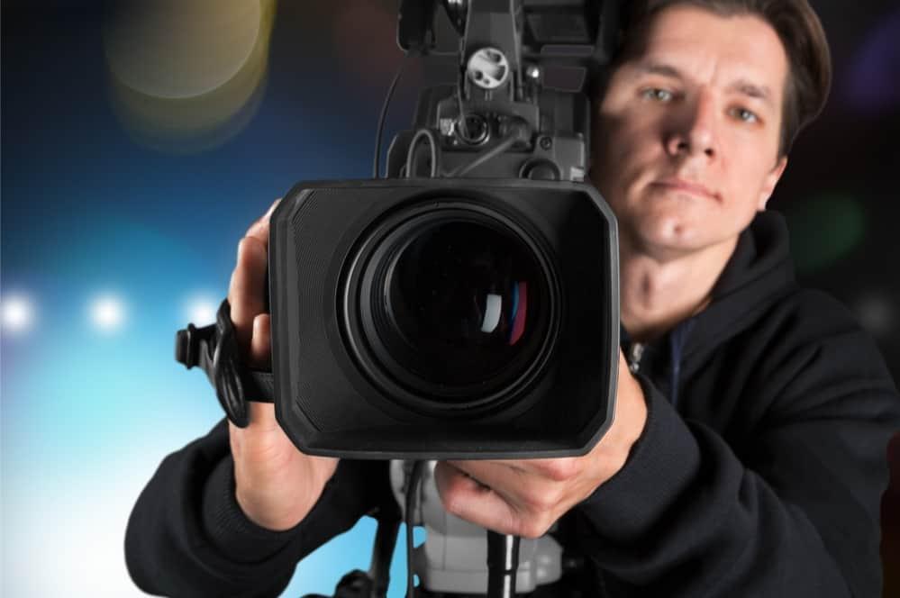 Cameraman with his camera