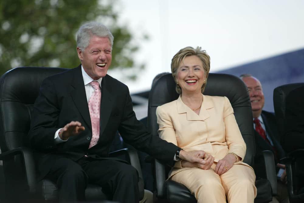 President Bill Clinton and wife, U.S. Senator Hillary Clinton